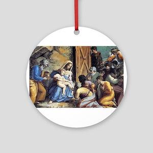 The Adoration of the Magi - Raphael Round Ornament
