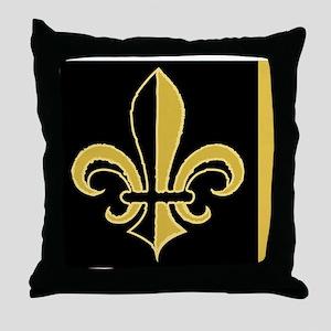 fleurBGblesBGcMiniW Throw Pillow