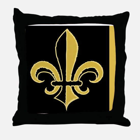 fleurBGblesBGcMiniW Throw Pillow