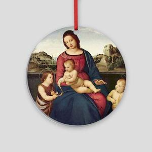 Terranuova Madonna - Raphael Round Ornament