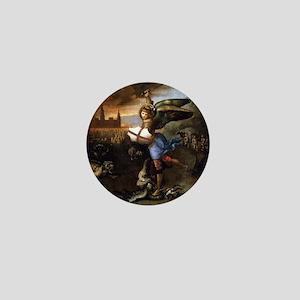 St Michael and the Dragon - Raphael Mini Button