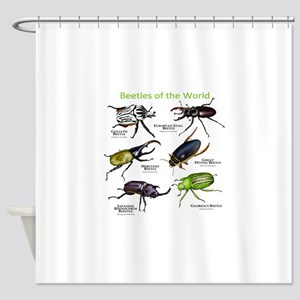 Beetles of the World Shower Curtain