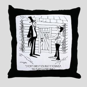 6451_lincoln_cartoon Throw Pillow