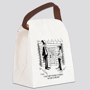 6451_lincoln_cartoon Canvas Lunch Bag