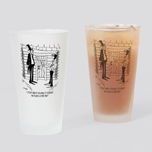6451_lincoln_cartoon Drinking Glass