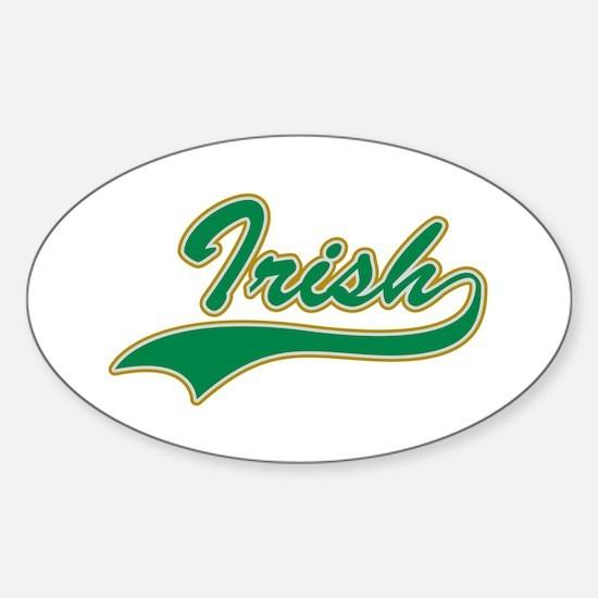 Irish Swoosh Green Oval Decal