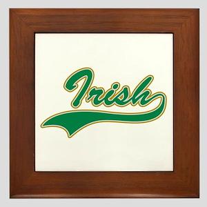 Irish Swoosh Green Framed Tile