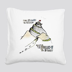 mountainRun Square Canvas Pillow