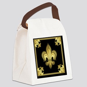 FleurWDgoldMsq Canvas Lunch Bag