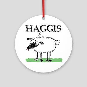 Surprised Sheep3 Round Ornament