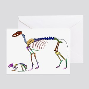 Hare  Sighthound Greeting Card
