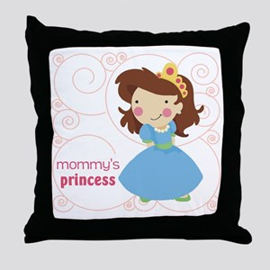 mommys princess Throw Pillow