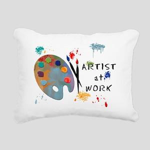 Artist At Work Rectangular Canvas Pillow