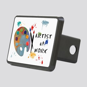 Artist At Work Rectangular Hitch Cover