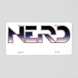 Nerd-Elite-dark Aluminum License Plate