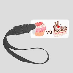 Cupcake VS Cheesecake Small Luggage Tag