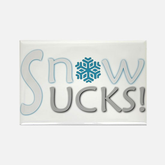 SNOW SUCKS Anti-Snow Rectangle Magnet