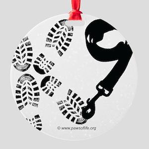 K9Footandleash Round Ornament