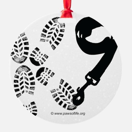 K9Footandleash Ornament