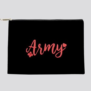 Army Girly Text Makeup Pouch