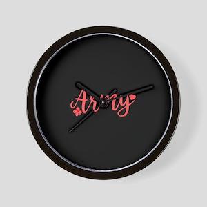 Army Girly Text Wall Clock