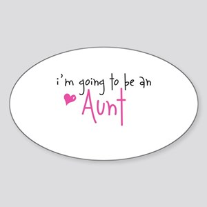 I'm going to be an Aunt Oval Sticker