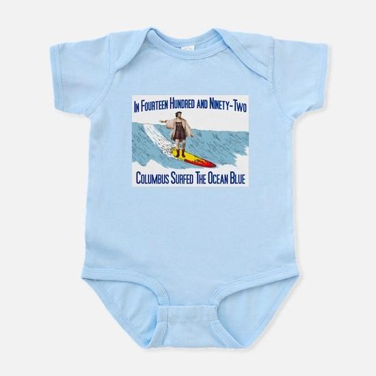 Columbus Surfed Infant Bodysuit