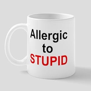 Allergic To Stupid Mug