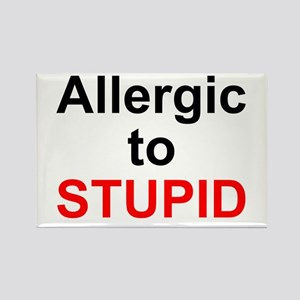 Allergic To Stupid Rectangle Magnet