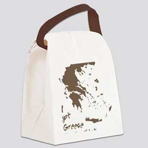 greeceonmyshirtDARK2 Canvas Lunch Bag
