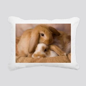 tancuddleBunniesIMG_2055 Rectangular Canvas Pillow