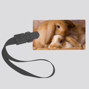 tancuddleBunniesIMG_2055 Large Luggage Tag