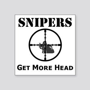 """Art_snipers_get more head1 Square Sticker 3"""" x 3"""""""