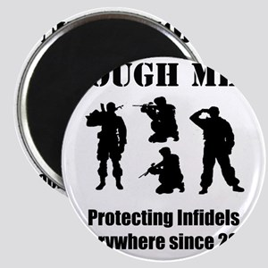 Art_Protecting Infidels_black2 Magnet
