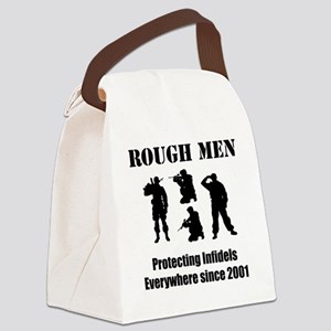 Art_Protecting Infidels_black2 Canvas Lunch Bag