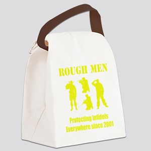 Art_Protecting Infidels_yellow2 Canvas Lunch Bag