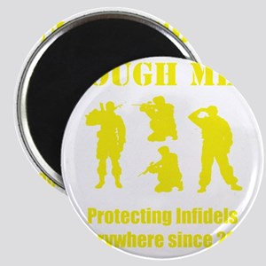 Art_Protecting Infidels_yellow2 Magnet