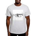 Woodcut Trumpet Ash Grey T-Shirt