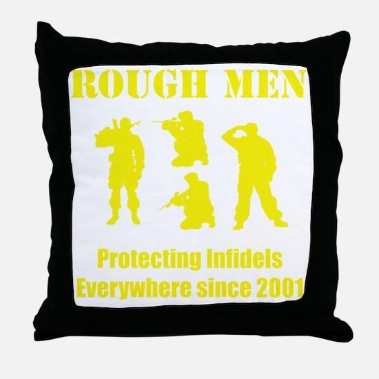 Art_Protecting Infidels_yellow2 Throw Pillow