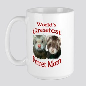 World's Greatest Ferret Mom Large Mug