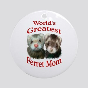 World's Greatest Ferret Mom Ornament (Round)