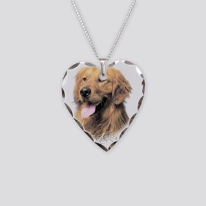 scriptgolden2 Necklace Heart Charm