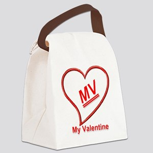 MV valentine bear Canvas Lunch Bag