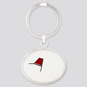 The Please Dont Pet Me Dog Oval Keychain