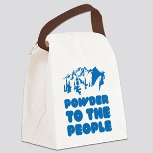 snowboPowder3 Canvas Lunch Bag