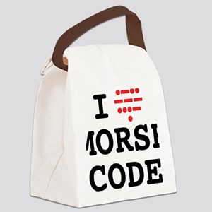 ILoveMorseOL Canvas Lunch Bag