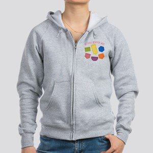 kitty-karry-all-patches Women's Zip Hoodie