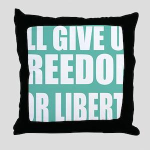 freedom impact blue darker Throw Pillow