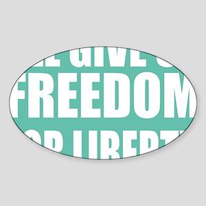 freedom impact blue darker Sticker (Oval)