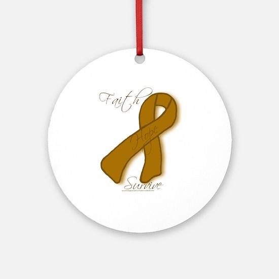 Anti-Tobacco Support Ornament (Round)